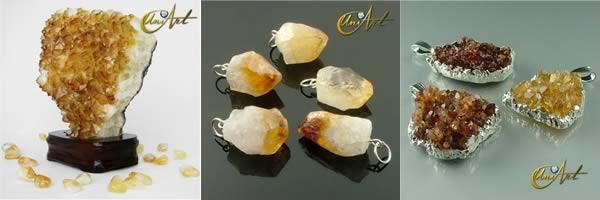 citrino minerales drusa colgante