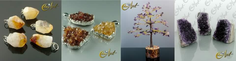 Minerales Amatista y Citrino
